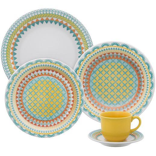 OXFORD - Aparelho de Jantar e Chá Daily Floreal Bilro - 20 Peças - JM38-6770