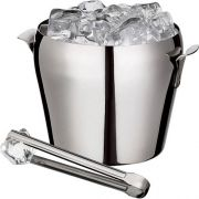 EURO HOME- Balde Para Gelo Com Pegador Em Aço Inox 1,5 L- BAR5101