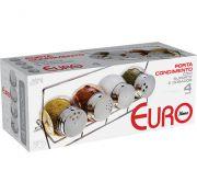 EURO HOME- Porta Condimentos Bubble Com Suporte 4 Peças- VDR1259