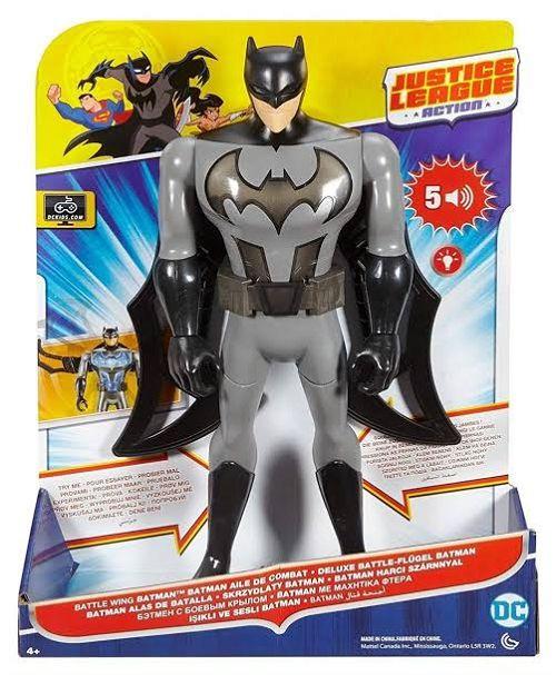 MATTEL - Boneco Batman Asas de Combate com Som e Luzes - FFM04