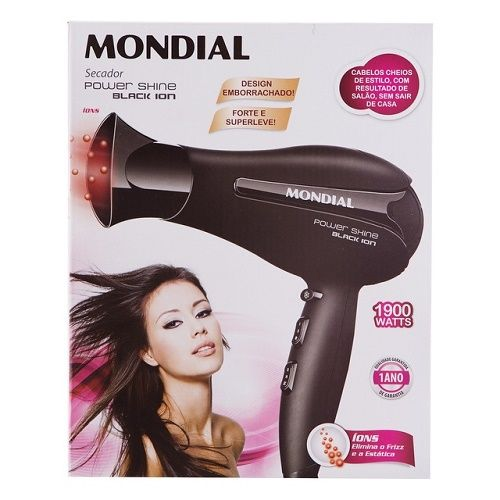 MONDIAL- Secador Power Shine Black-SC-13